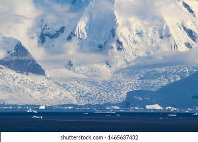 The frozen coasts of the Antarctic Peninsula, Palmer Archipelago, Antarctica