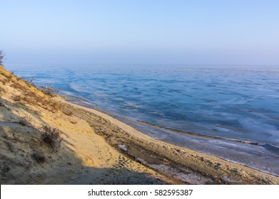 Frozen Curonian Lagoon