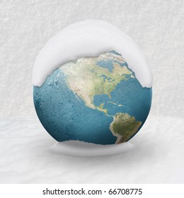 Frozen Earth covered by snow ( USA CLOSE UP)