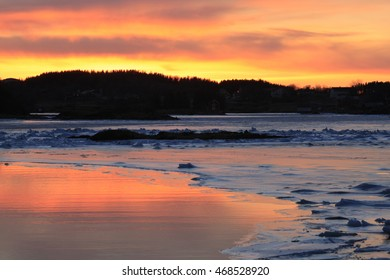 frozen fjord, Br�¸nn�¸ysund, Norway, Norwegian Sea, Atlantic Ocean