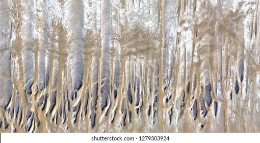 the frozen forest, tribute to Pollock, abstract photography of the deserts of Africa from the air, aerial view, abstract expressionism, contemporary photographic art, abstract naturalism,