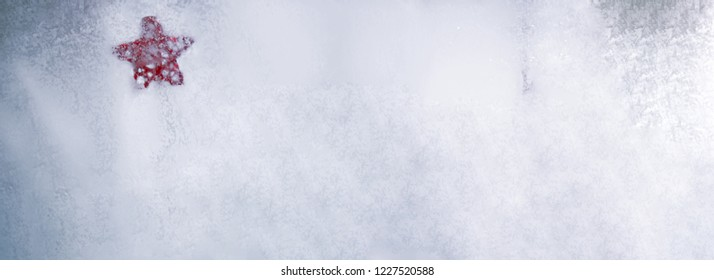 Frozen glass texture. Winter abstract background.