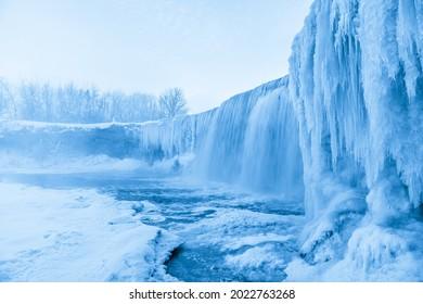 Frozen Jagala Falls - The Niagara Falls of Estonia