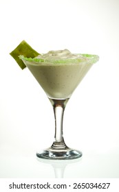 Frozen Kiwi Cream Cocktail - Kiwi Ice Cream with Cream and Sugar Syrup