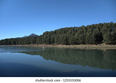 Frozen lake in Andorra