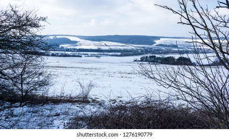 Frozen landscape of the country