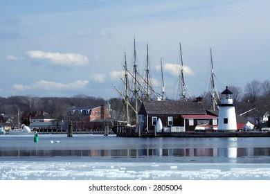 Frozen Mystic Seaport