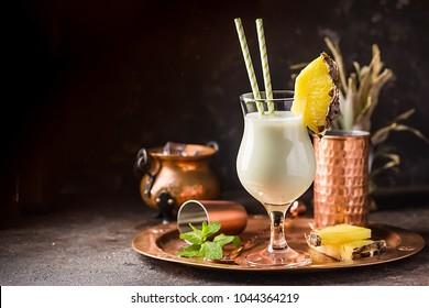 Frozen Pina Colada Cocktail
