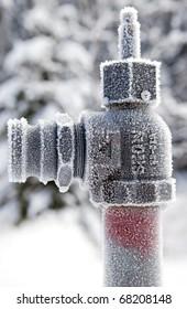 Frozen pipe end