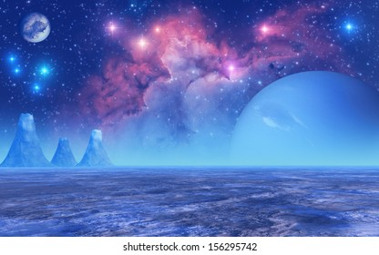 """Frozen Planet - """"Elements of this image furnished by NASA"""""""
