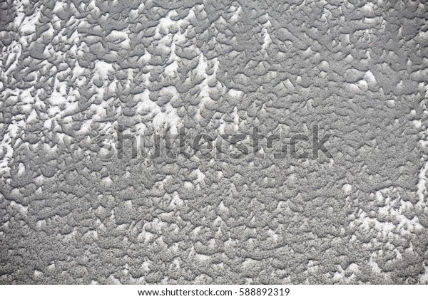 Frozen river, snow, winter in Poland