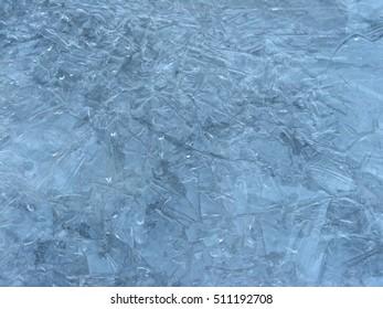 Frozen riverside