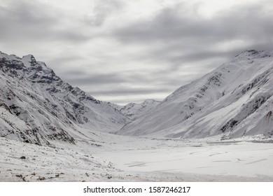 Frozen Saiful Muluk Lake Naran Pakistan