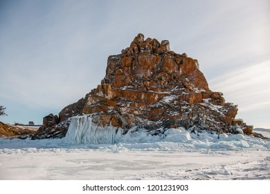 frozen stone on baikal