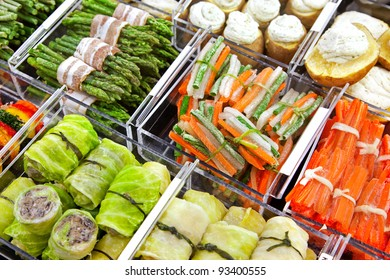 frozen stuffed food in assortment