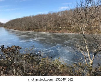 A frozen Sunfish Pond at Delaware Water Gap.