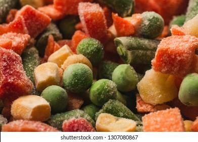Frozen Vegetables macro photography