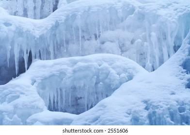 Frozen Waterfall from Altay Region, Western Siberia