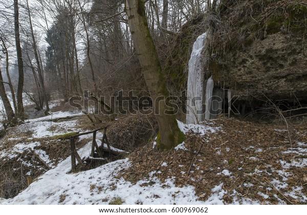 Frozen Waterfall, Medvode - Slovenia