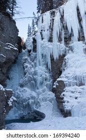 Frozen Waterfalls in Canadian Rockies