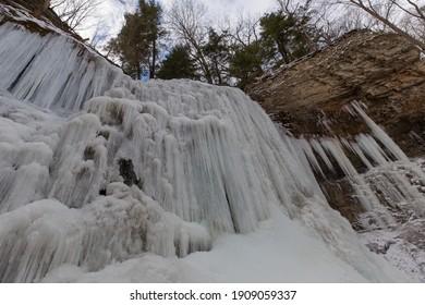 Frozen waterfalls in Hamilton Ontario