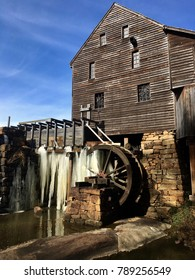 Frozen waterwheel at the mill