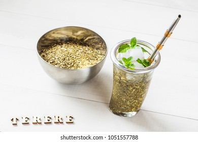 frozen yerba mate called terere