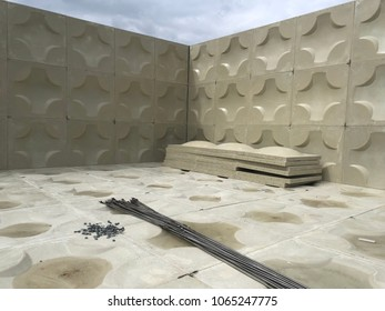 FRP domestic water tank internal pattern at site construction