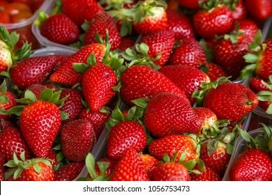 Frresh strawberries at Farmers' market