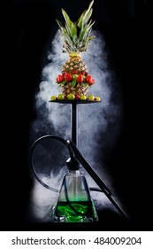 Fruit aroma Hookah isolated on black background