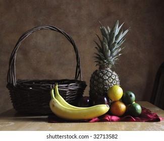 Fruit and basket