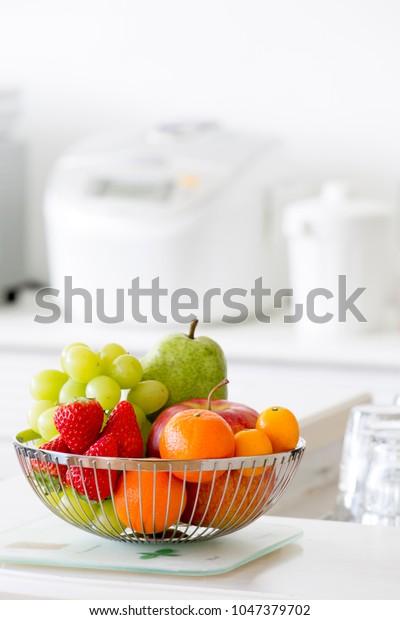 Fruit Basket Bright Kitchen Stock Photo (Edit Now) 1047379702