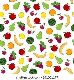 Fruit and berry seamless pattern.