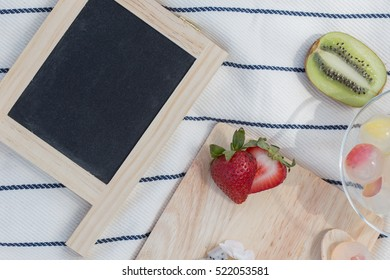 Fruit and board.