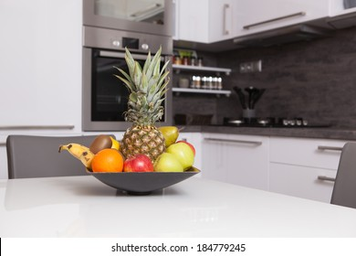 fruit bowl in a kitchen