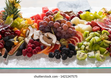 Fruit buffet served at the celebration of a wedding in Valencia, Spain.