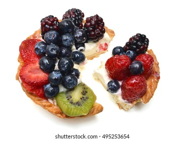 Fruit Cake on white background