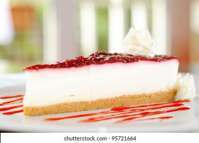fruit cheese cake, slice