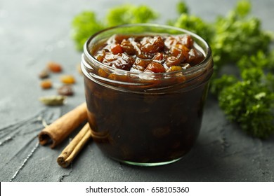 Fruit chutney with spices