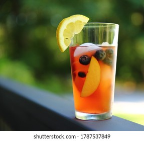 Fruit Cooler with nectarines and blueberries