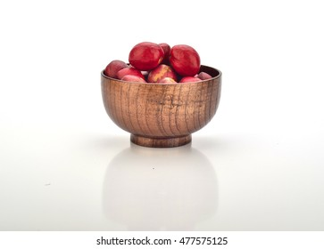 Fruit of Crown Of God in Wooden Bowl With White Background
