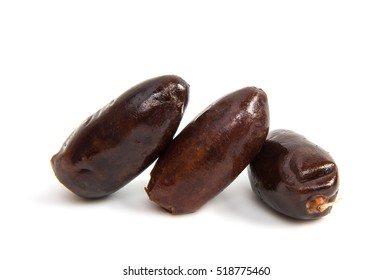 fruit dates on a white background