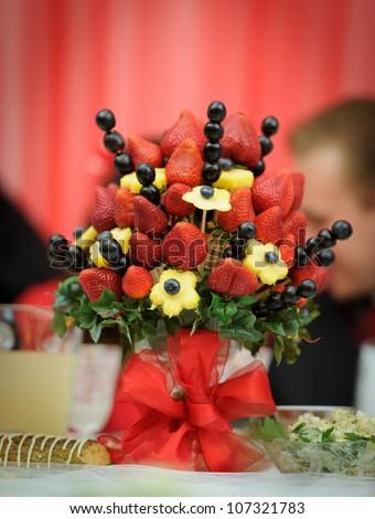 Fruit Decoration Wedding Reception Stock Photo (Edit Now) 107321783 ...