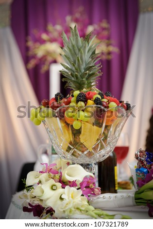 Fruit Decoration Wedding Reception Stock Photo (Edit Now) 107321789 ...