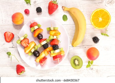 fruit dessert,above