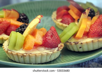 Fruit desserts on a plate