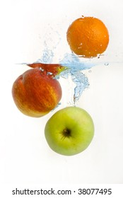 Fruit fall in the water