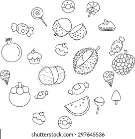 Fruit icon collection.