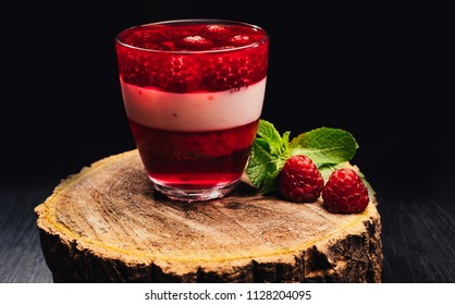 Fruit jellies in the glass. Fruit jellies are preserved mixtures of fruit juice and sugar. Fruit jelly is a fairly easy-to-prepare product may be made at home without much special equipment