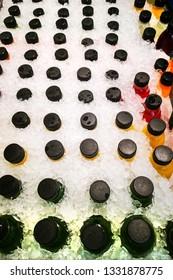 Fruit Juice in a Bucket in Ice Bucket